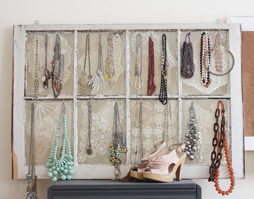 Delicieux Antique Window Jewelry Organizer