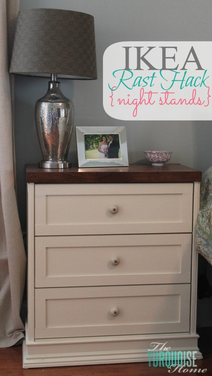 My first ever DIY project! I love this IKEA Rast Dresser Hack and still use it today!