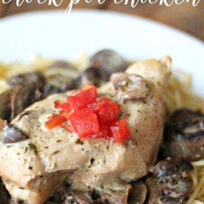 Angel Mushroom Chicken {Crock Pot Recipe}