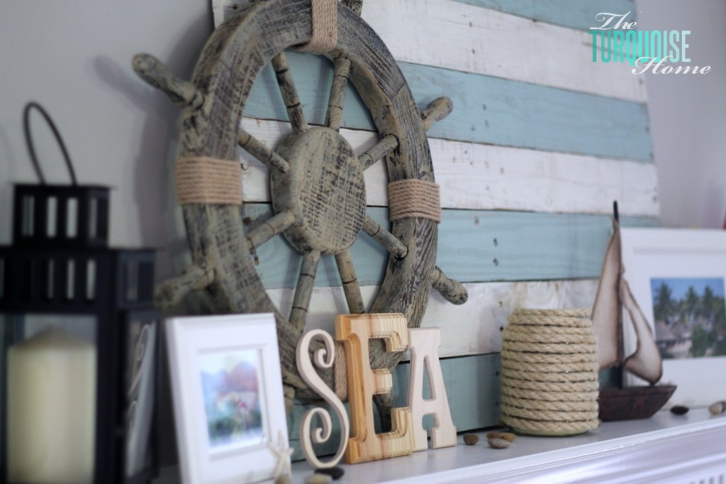 Lake-Themed Summer Mantel {Reveal} | The Turquoise Home