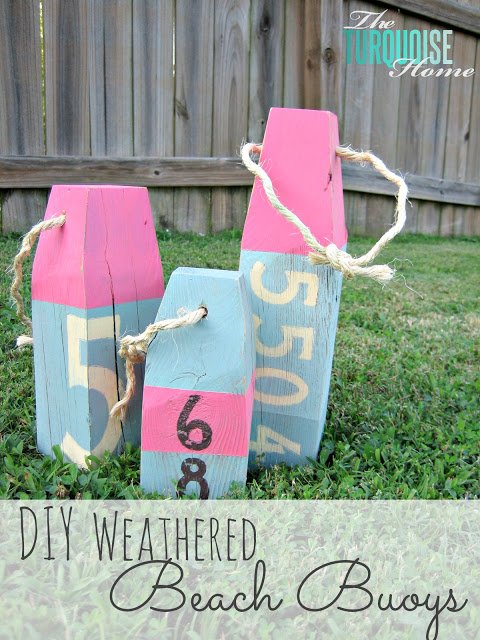 DIY Weathered Beach Buoys