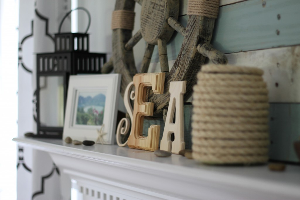 Lake-Themed Summer Mantel {Reveal}   The Turquoise Home