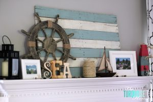 Lake Themed Summer Mantel {Reveal} | The Turquoise Home