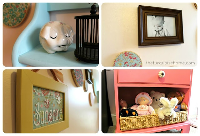 Pink and Turquoise Nursery Room for a girl