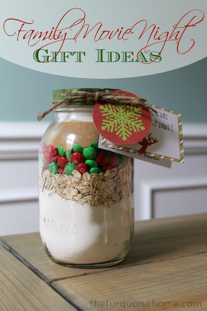 Give a family movie night this Christmas season. This gift is so versatile. You can customize it and it's a great for all ages!