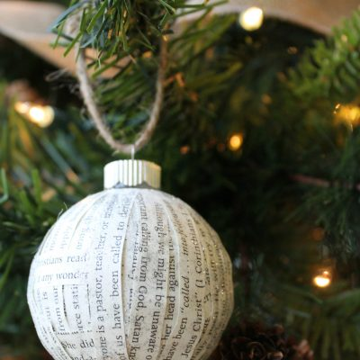 DIY Paper-covered Ornaments
