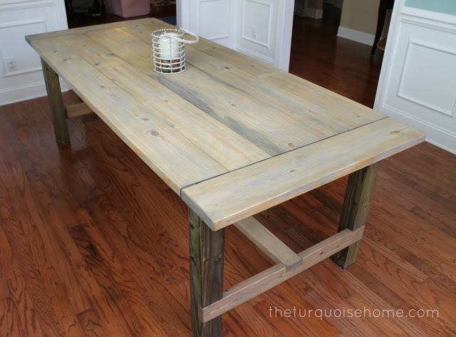Build this DIY farmhouse table for less than $100 and wow your friends and family. You'll be hosting all of the family's parties from here on out!