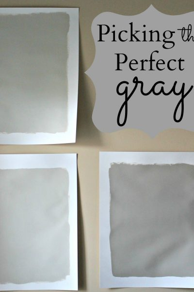 Picking the Perfect Gray Paint
