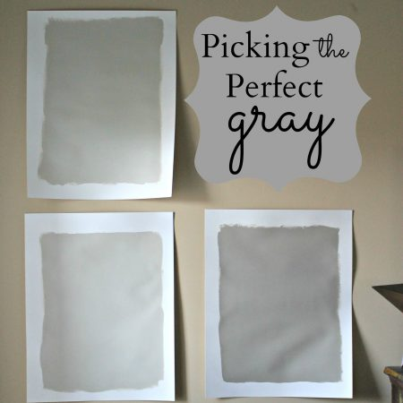 Picking the Perfect Gray Paint {Revere Pewter}