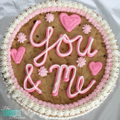 Happy Valentine's Day {cookie cake}
