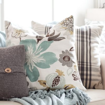 Easy DIY Throw Pillow | Part 6: Living Room Makeover