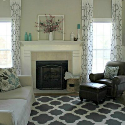 Living Room Makeover Reveal | TheTurquoiseHome.com