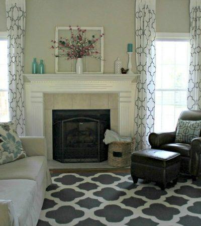Living Room Makeover Reveal | TheTurquoiseHome.com