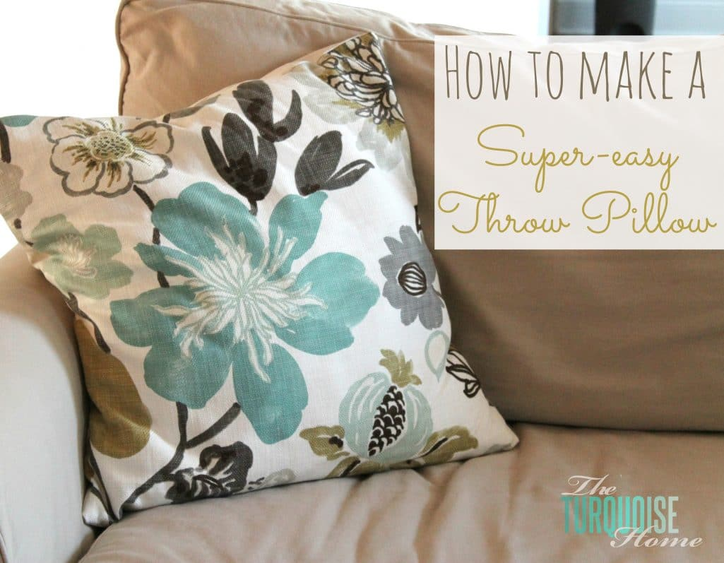 DIY Super-Easy Throw Pillows