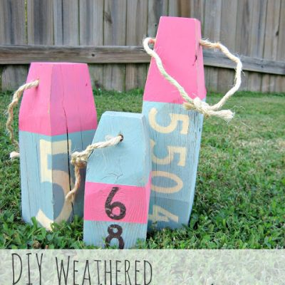 DIY Weathered Wood Beach Buoys