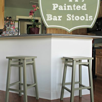 Chippy Painted Bar Stools