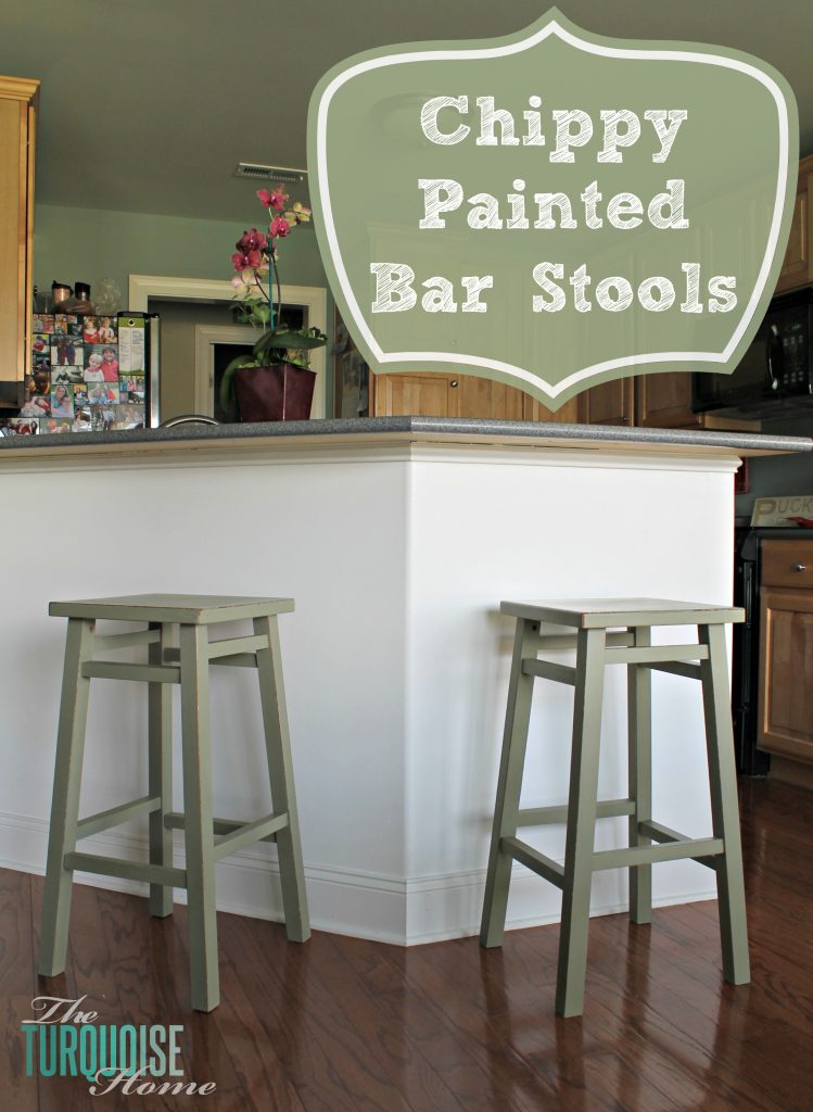 Excellent Chippy Painted Bar Stools The Turquoise Home Spiritservingveterans Wood Chair Design Ideas Spiritservingveteransorg
