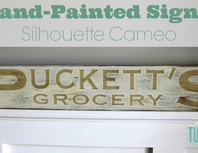 Hand-Painted Sign + Silhouette Cameo