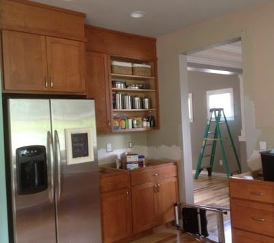 Closing the space above kitchen cabinets…