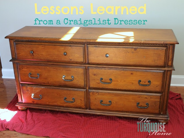 Lessons Learned from a Craigslist Dresser