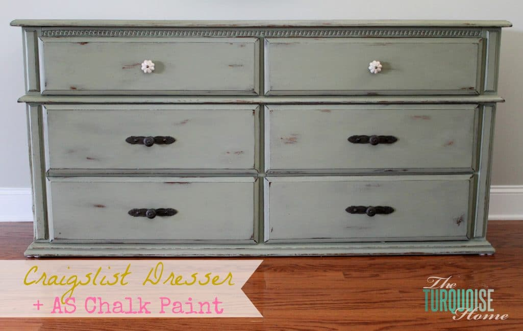 Craigslist Dresser Makeover with Annie Sloan Chalk Paint : The Turquoise Home