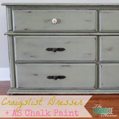 Craigslist Dresser Makeover with Annie Sloan Chalk Paint