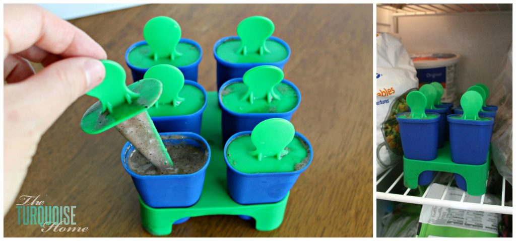kid friendly green smoothie popsicles collage