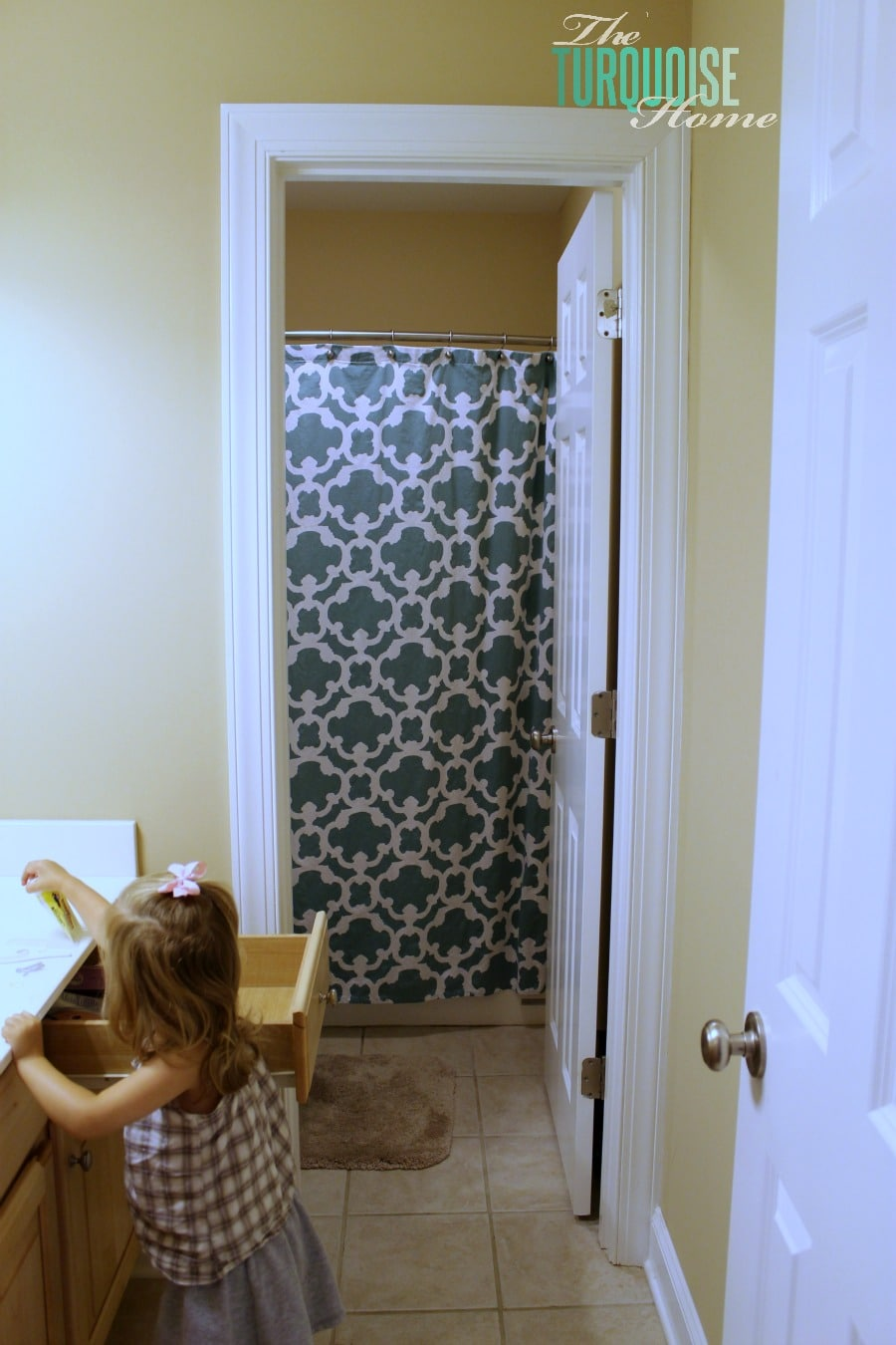 Curtains Ideas target kids shower curtain : Shower Curtain and a Stain | The Turquoise Home