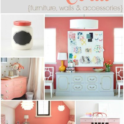 Crushing on: Coral {furniture, walls & accessories}
