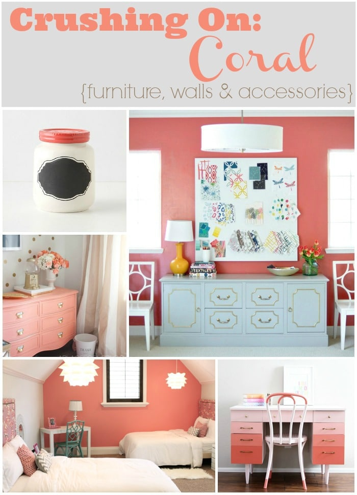 Crushing on coral furniture walls accessories the for Coral walls living room