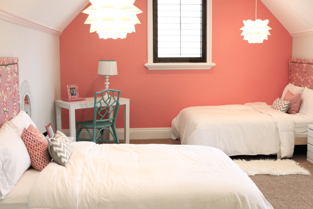 Coral-accent-wall