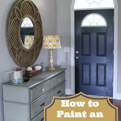 How to Paint an Interior Door: Hale Navy