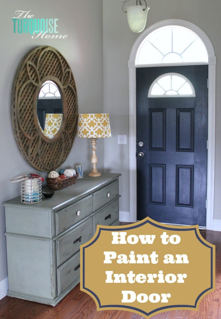 How to paint an interior door hale navy the turquoise home painted interior door and foyer planetlyrics Image collections