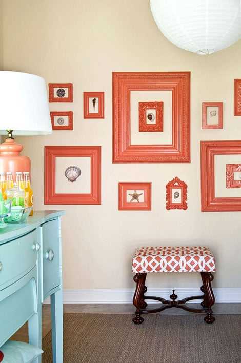 How to Create a Painted Picture Frame Gallery Wall
