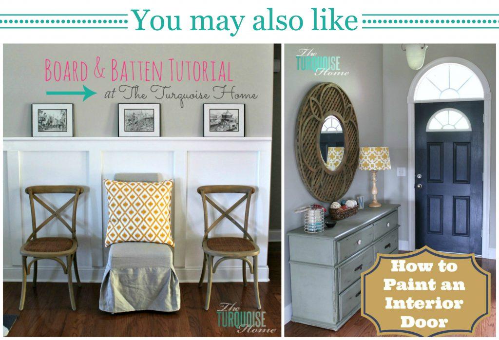Board and Batten Tutorial // Painted Front Door