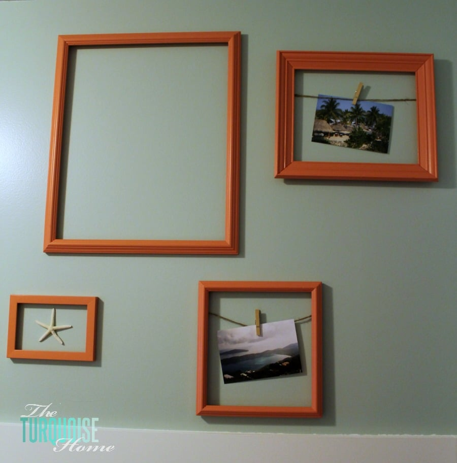 Frames On Wall painted picture frame gallery wall | the turquoise home