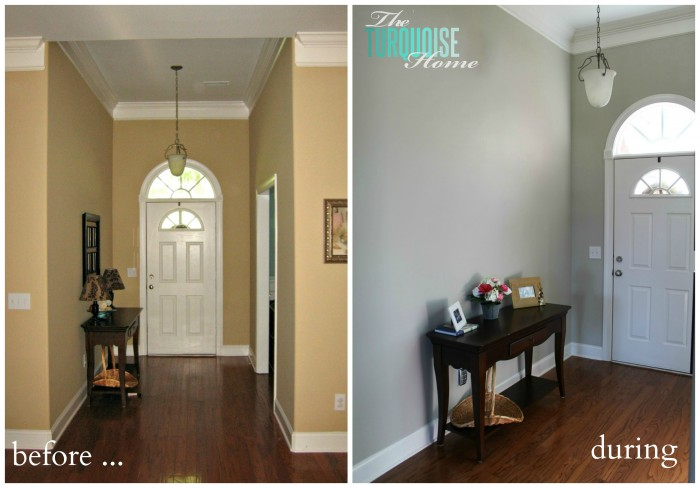 This is a before and during entry way shot!