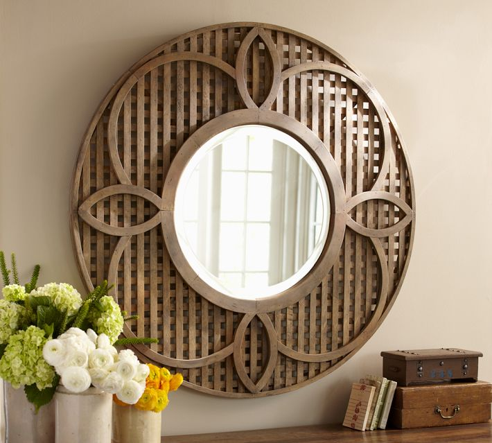 decorating my entry way new pottery barn mirror the