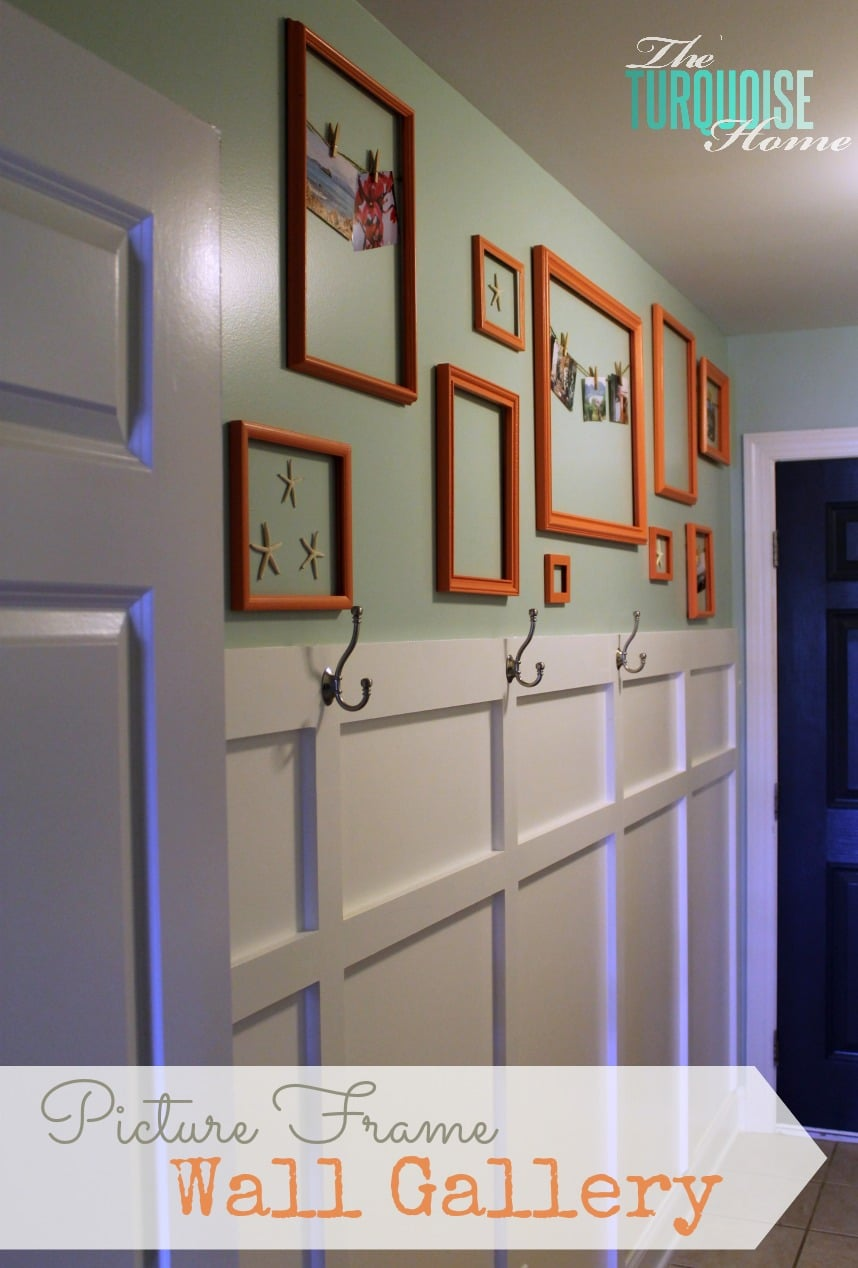 Painted Picture Frame Gallery Wall