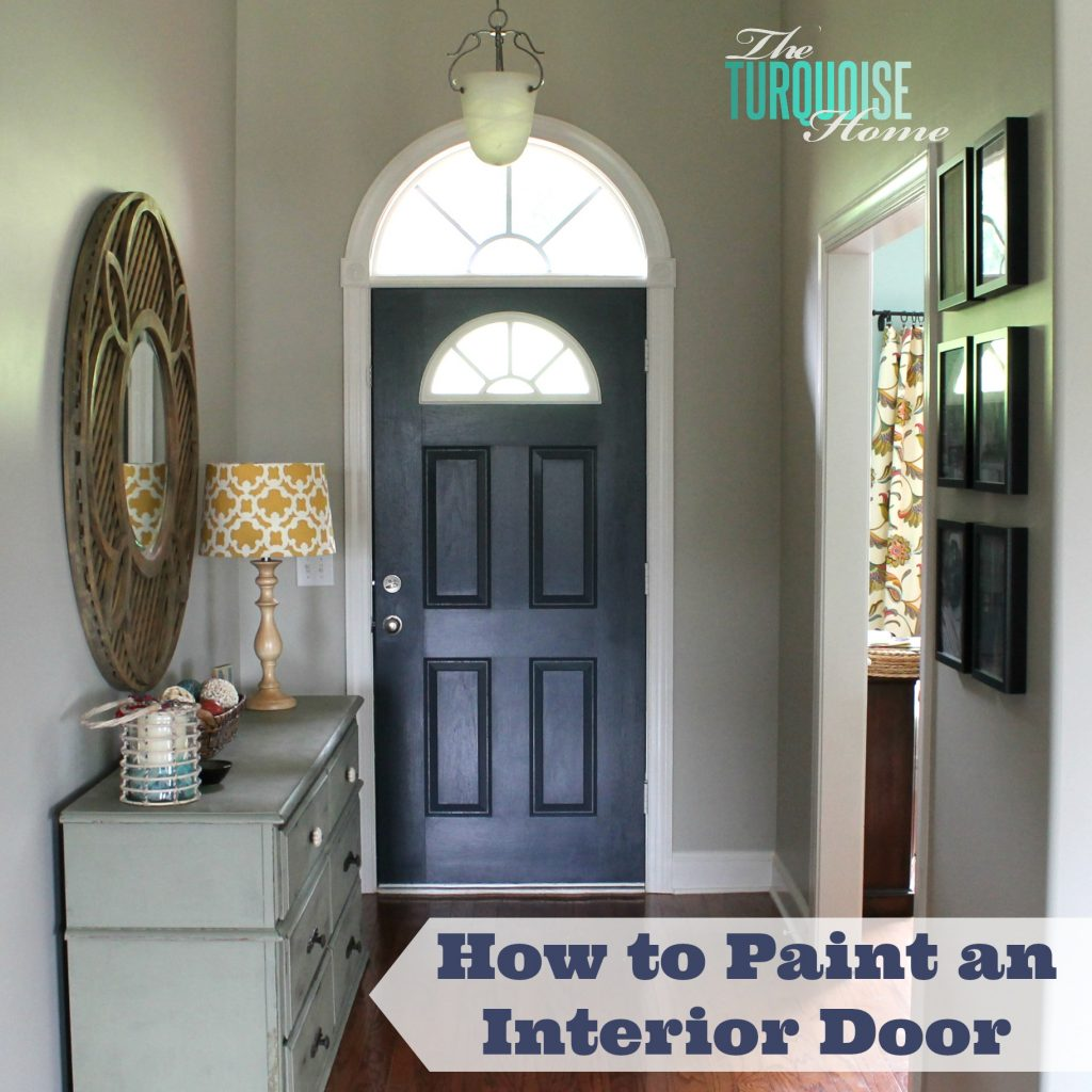 How to paint an interior door hale navy the turquoise home how to paint an interior door planetlyrics Choice Image