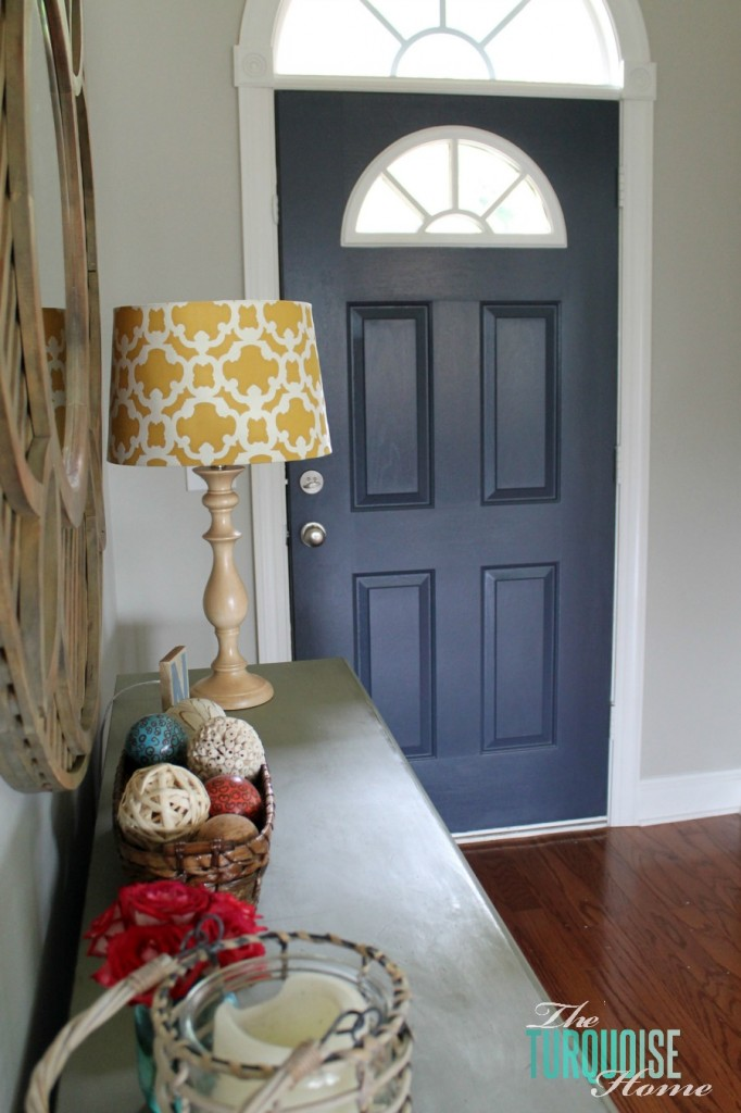 How To Paint Front Door how to paint an interior door: hale navy | the turquoise home