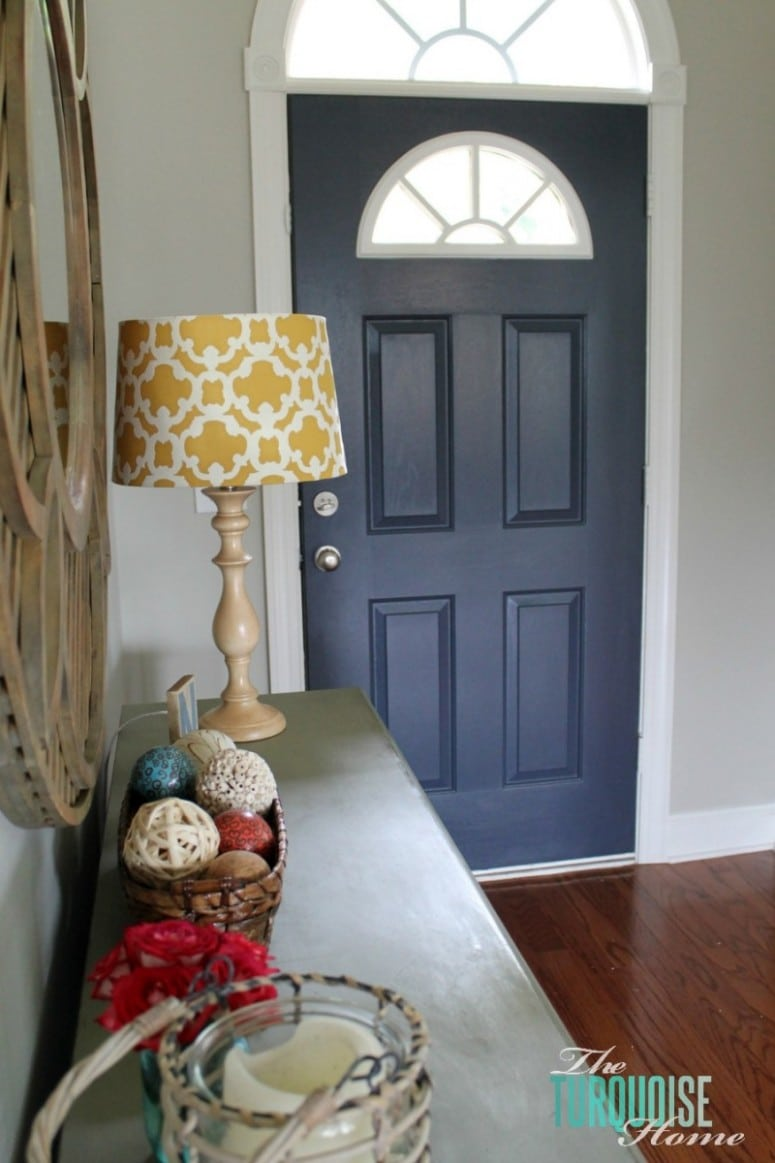 How to Paint Your Front Door | Hale Navy| TheTurquoiseHome.com