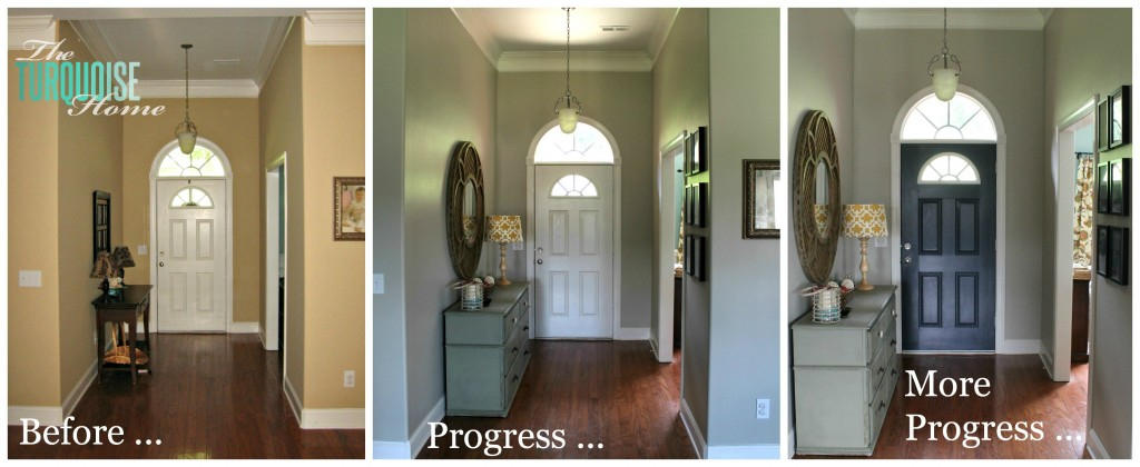 Painting Entryway how to paint an interior door: hale navy | the turquoise home