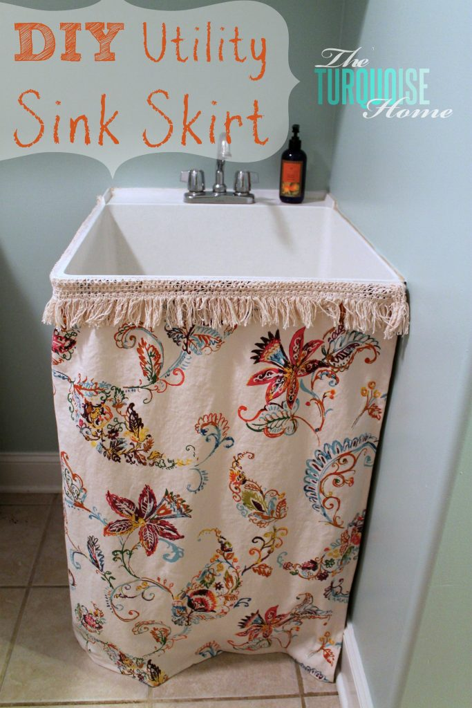 How To Make A Utility Sink Skirt The Turquoise Home