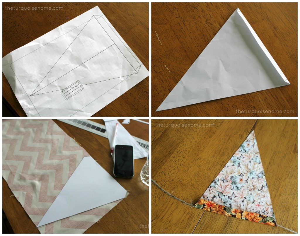 Burlap or Fabric Bunting Tutorial | The Turquoise Home