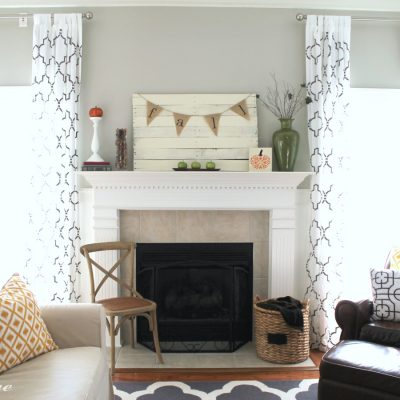 Fall Mantel | The Turquoise Home