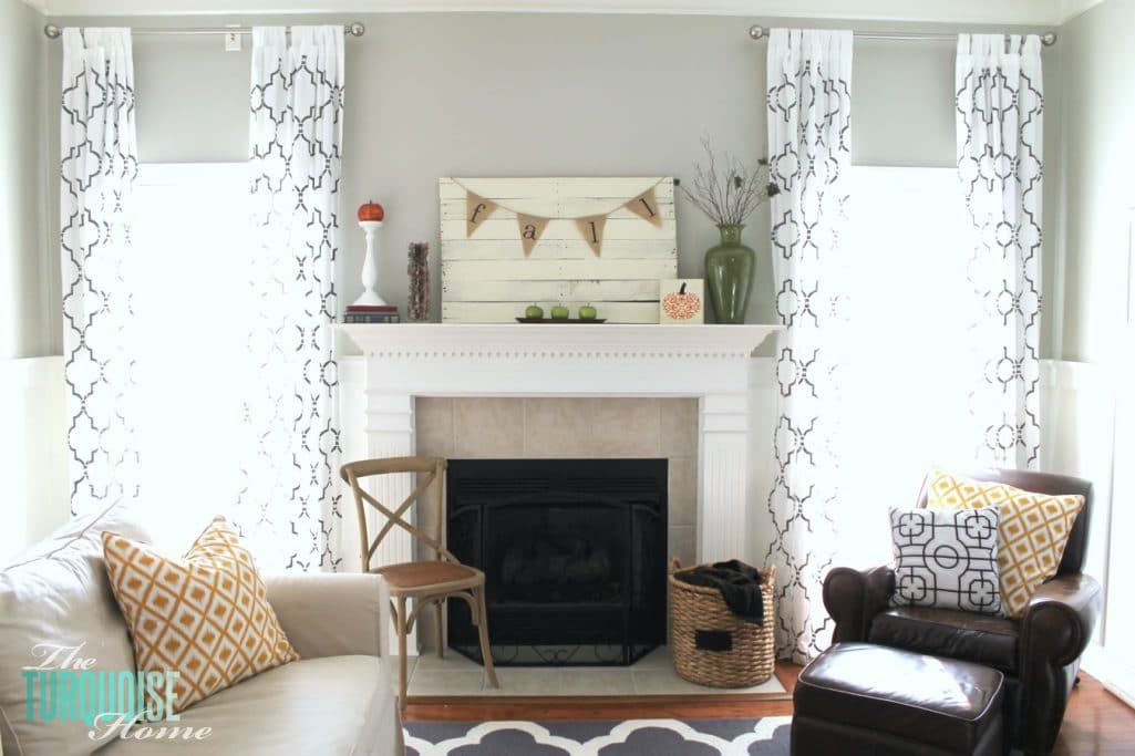 planked pallet fall mantel reveal the turquoise home