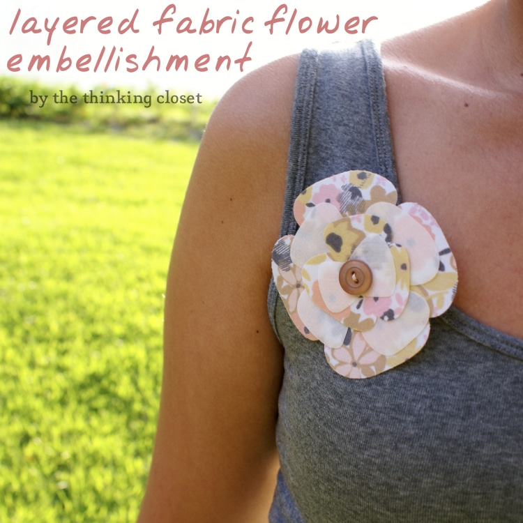 Layered Fabric Flower