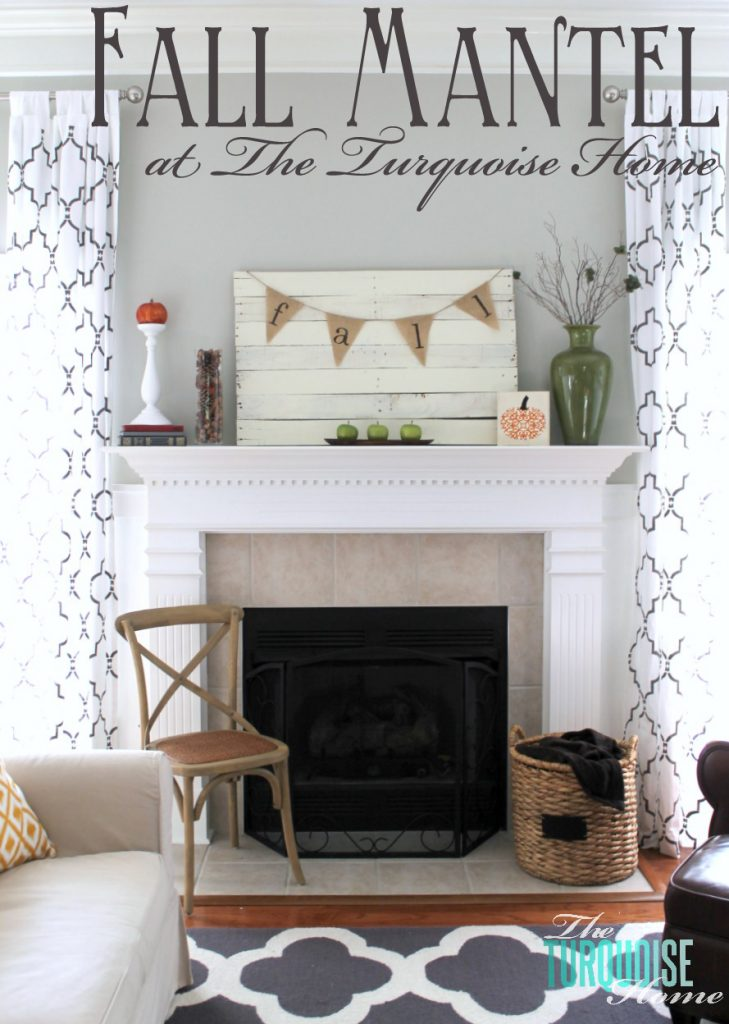 Planked Pallet Fall Mantel   The Turquoise Home