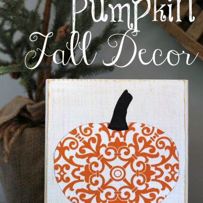 """Scrappy"" Pumpkin Fall Decor"